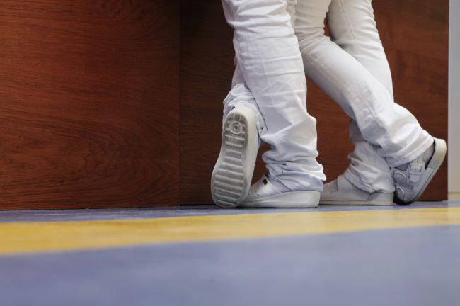 chaussures à l'hopital